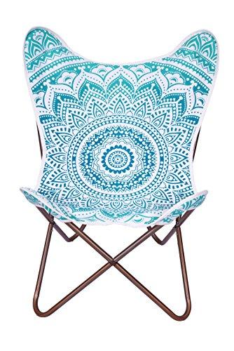 Verde ombra Mandala silla diseño de mariposas lienzo silla, sillón, silla
