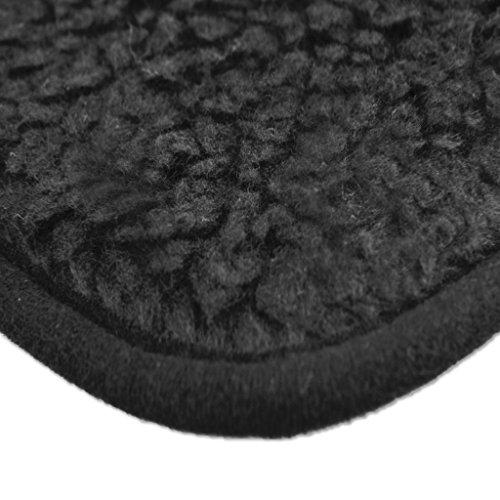 Tierdecke Lammflor Kuscheldecke Hundebett Katzendecke Auswahl: 70×100 cm Farbe: schwarz – jet black - 5