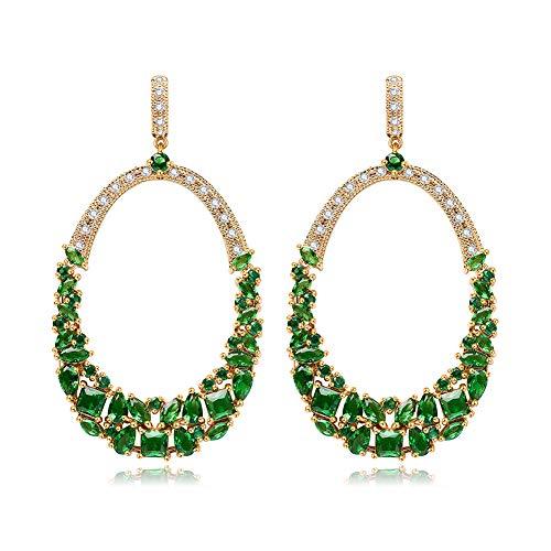 Vergoldet 2019 Neue Ohrringe für Frauen - grün National Style Ring Design, intime geschmackvolle Geschenke für sie/Freundin/Frau, Exquisite Geschenkwickeln