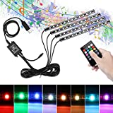 Interior Car Lights, Winzwon Car Interior Lights 48 LED Car Strip Lights With USB Plug And 8 Color RGB Remote Control And Music Sensor Under The Dash Lighting Kits Flexible Waterproof Neon Lights