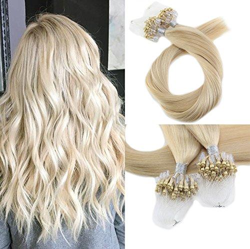 Moresoo 22pollice micro anello capelli estensioni brasiliano remy capelli umani micro ring extensions micro ring extensions bionda real human hair