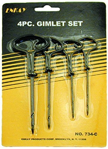 Enkay 734-C Gimlet Set, Carded, 4-Piece by Anchor Fasteners Anchor Hocking-set