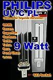 Lot de 2Lampe PL Philips 9W UV C Lampe de rechange Longueur: 167mm