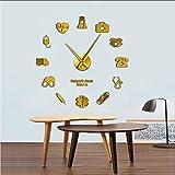 Yddlie Orgullosa de ser una Enfermera Médico y Enfermera Kit DIY Reloj de Pared Grande Consultorio médico Hospital Arte de Pared Decoración Manos largas Reloj Reloj de Pared