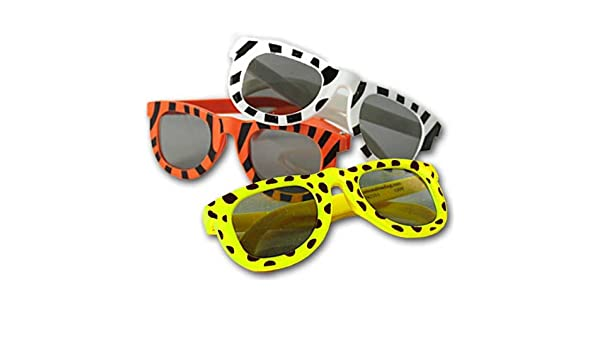 Animal Print Sunglasses Assortment (1 dz) (colors may vary) by Fun Express EN95u0NO