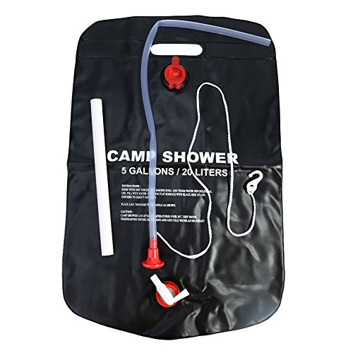 20L Solar Dusche Tasche PVC Solar Heizung Wasser Tasche mit Düse für Outdoor Camping Reisen -