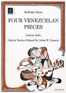 """""""Vier Venezuelanische Tänze"""" Ausgabe für Gitarre Solo von Rodrigo Riera"""