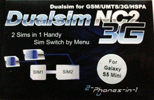 Entrambi i Telefoni 2in 12in1VGN-S5M NC2Dual SIM Adattatore per Samsung Galaxy S5Mini