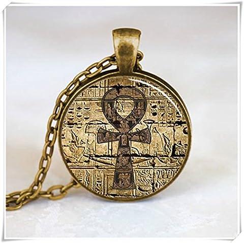 Ägyptische Ankh Anhänger, Ewiges Leben Anhänger Halskette