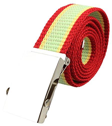 Ceinture en Tissu à rayures Tailles entre 70-135cm en plus de 20 couleurs Rouge/Jaune/ Vert menthe rayé - Express France