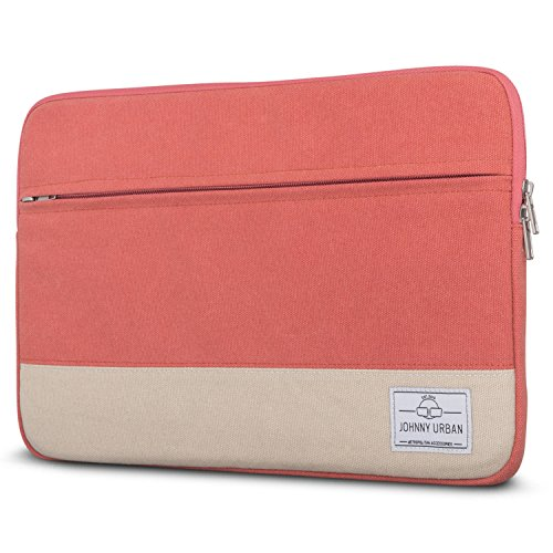 Laptophülle 13 - 13.3 Zoll Rot - Johnny Urban Canvas Laptop Sleeve Laptoptasche Hülle für MacBook Air 13