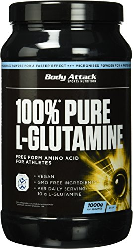 Body Attack 100% Pure L-Glutamine, 1er Pack (1 x 1000g)