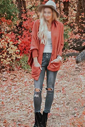 HYWZQ Frauen gestreifte Pullover Herbst-Winter-Jumper Stitching V Neck Pullover Langarm Striped Knit Regenbogen-gestreifte Spitze Hemd Strick,Lila,M -
