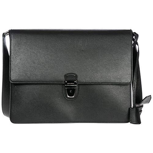 Dolce&Gabbana borsa uomo a mano tracolla in pelle originale nero
