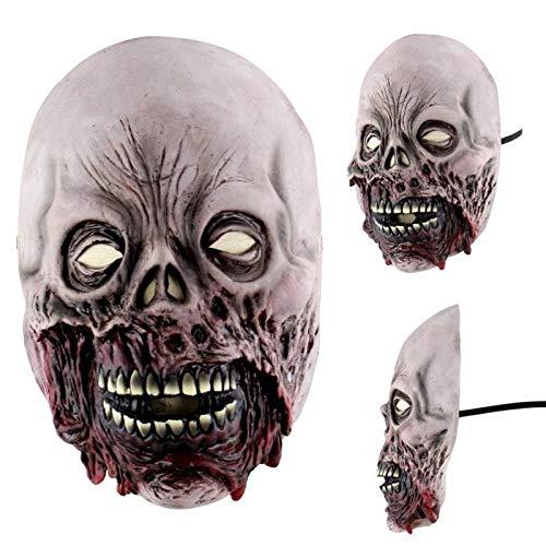 Masken beängstigend Jason Voorhees Horror-Kostüm Blood Creepy Spooky Latex (Zombie-Fleisch) ()