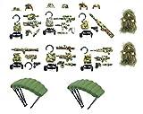 Magma Brick Pacchetto Armi mimetiche, Vest tattico e Cintura Tattica per Il Campo di Battaglia della Foresta compatibili con i Lego