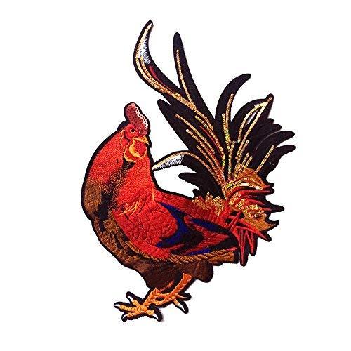 Einzigartige Farm Tiere Cock großen Hahn bestickt Nähen auf Aufnäher Patch Style A Hahn Patch