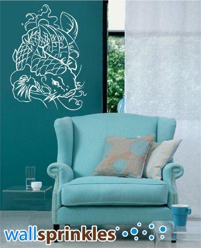Japanische Koi Fisch-VINYL Wand Kunst Aufkleber Aufkleber Decor Grafiken (Koi Fisch-wand-kunst)