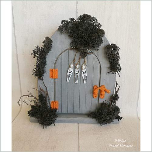 Elfentür, Halloween, Skelett, schwarz, Spinne