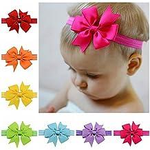 iEFiEL 20 Piezas Cintas Elásticas de Cabeza para Bebés y Niñas Tocado de Pelo de Flores
