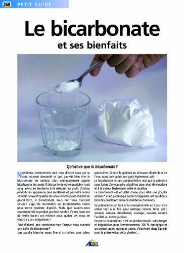 Le bicarbonate et ses bienfaits