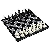 Giplar Schachspiel Magnetisch Einklappbar Schachbrett Pädagogisches Spielzeug für Kinder und Erwachsene