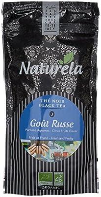 NATURELA Thé Noir Goût Russe Bio Chine N° 3 100 g - Lot de 6