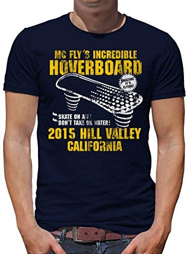 TShirt-People Hoverboard California T-Shirt Herren XXL Dunkelblau