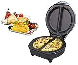 """Unibos Premium Non Stick Electric Omelette Maker - 700 Watts - Black """"Free"""