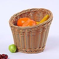 CampHiking® Osier tressé à la main Plateau de service Panier de vidange de fruits Légumes Nourriture Pain Panier de rangement 1ZIHTOJj