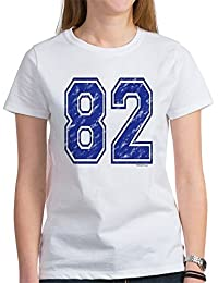 CafePress - 82 Jersey Year Women's T-Shirt - Womens Crew Neck Cotton T-Shirt, Comfortable & Soft Classic Tee