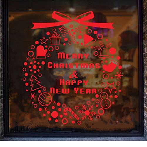 44 * 50 CM Weihnachten Hut Socken Neujahr Wohnzimmer Schlafzimmer Fenster Dekorative Kinderzimmer Wandaufkleber ()