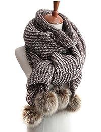 938ce81e882e BININBOX® Les nouvelles boules de poils de lapin oversize chaude automne et  l hiver femme laine épaisse…