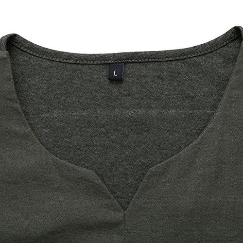 Männer Sommer Lost Kurzärmeliger Einfach Und Elegant V-Ausschnitt Groß Lässig T-Shirts Green