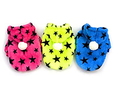 Pet Cat Dog Coat Jumper Hoodie Soft Velvet Stars Small Dog Clothes Sweaters for Autumn and Winter XS S M L XL XXL