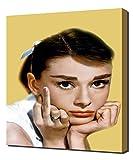 Audrey Hepburn Middle Finger Vintage - Leinwandbild - Kunstdrucke - Gemälde Wandbilder