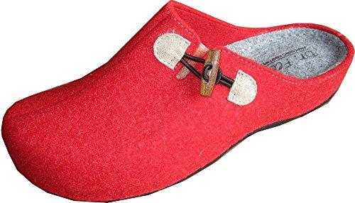 Clogs Hausschuh Damen von Dr. Feet in Rot Rot