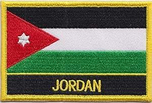 Écusson brodé Flag Patch Jordan rectangulaire Badge/à coudre ou repasser-Design exclusif de 1000 drapeaux