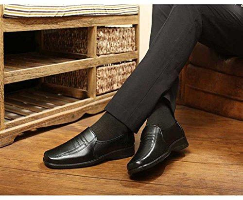 Gaorui Herrenhalbschuhe Business-Slipper aus Kunstleder Schwarz Braun 5 Größe Braun