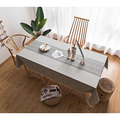 Cotton Linen Rectangle Tableclot...