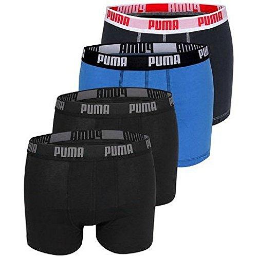 4er Pack Puma Basic Shortboxer, kurzer modischer Schnitt + sehr schneller Versand durch Amazon Black/Navy