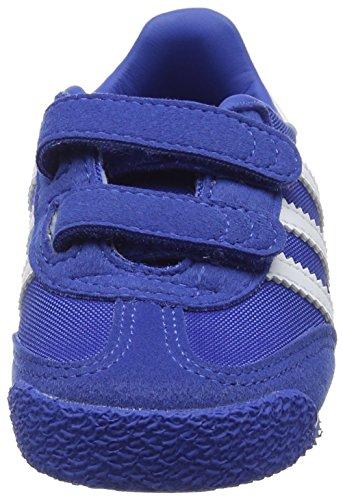 adidas Dragon Og Comfort Strap, Baskets Basses Mixte Bébé Bleu (Blue/Ftwr White/Blue)