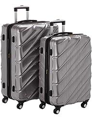 Shaik 7203015 Trolley Koffer, 2er Set (L, XL), silber