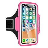 Arteesol Sport Armband geeignet für iPhone X / 8/7/6 / Plus / 5, Galaxy S8, LG, Moto, Handytasche Displayschutzfolie für Training, Rosa