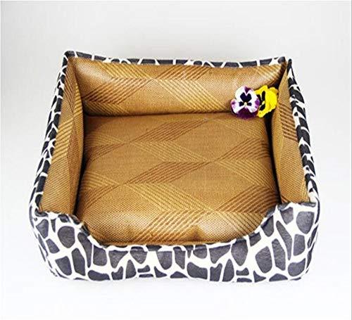 Hundehütte Pet Kennel Pad Sommer Breathable Cool Mat Kennel Rutschfester Anti-Biss-Zwinger (Größe : Large)