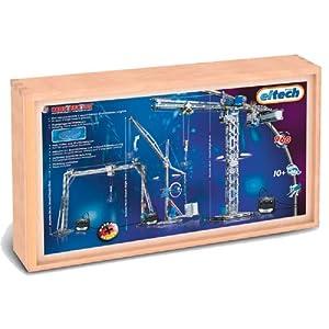 eitech 00035 - Juego de construcción de metal en caja de madera, diseño de grúas importado de Alemania