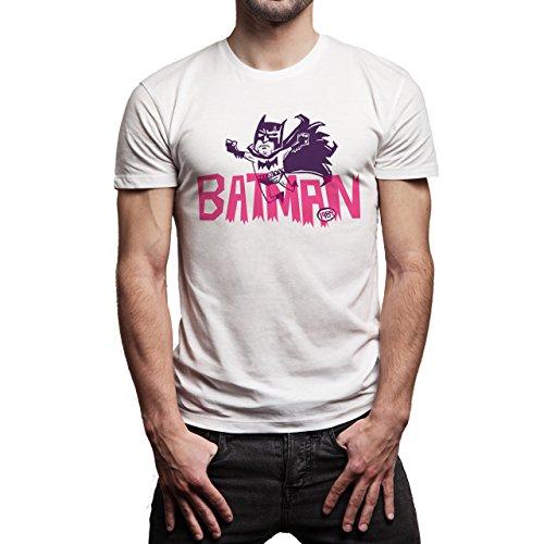 Batman-Forever-Pink-Nature-Background.jpg Herren T-Shirt Weiß