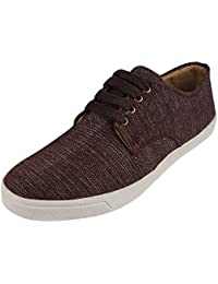 Uniqas Designs Yuva Khadi Men's Black Pure Khadi Casual Sneakers Shoes - B07F7DQ113