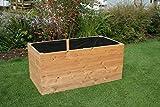 Gartenwelt Riegelsberger Hochbeet aus Lärchenholz 160 x 80 x H72 cm, Bretter 20 mm GLATT, Kräuterbeet, Pflanzbeet, Lärche, Gemüsebeet, ohne Boden, inkl. Vlies, Edelstahlschrauben und Nägel