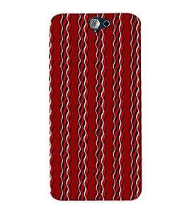ifasho Designer Phone Back Case Cover HTC One A9 ( American Football Sports Helmet Orange )
